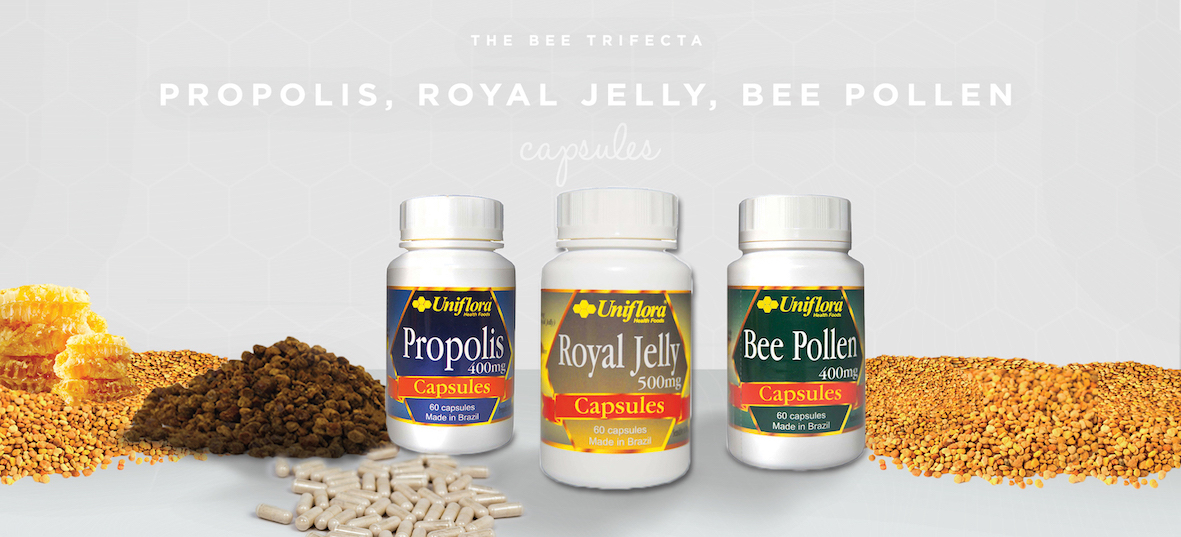 The Bee Trifecta - Propolis, Royal Jelly, Bee Pollen Capsules