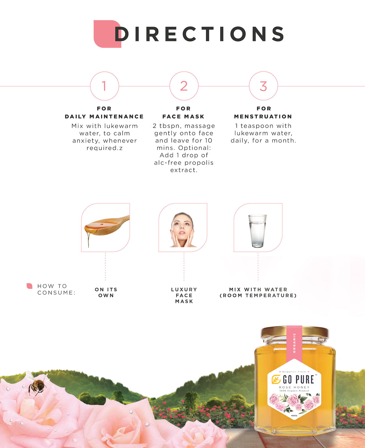 Directions to Consume Rose Honey