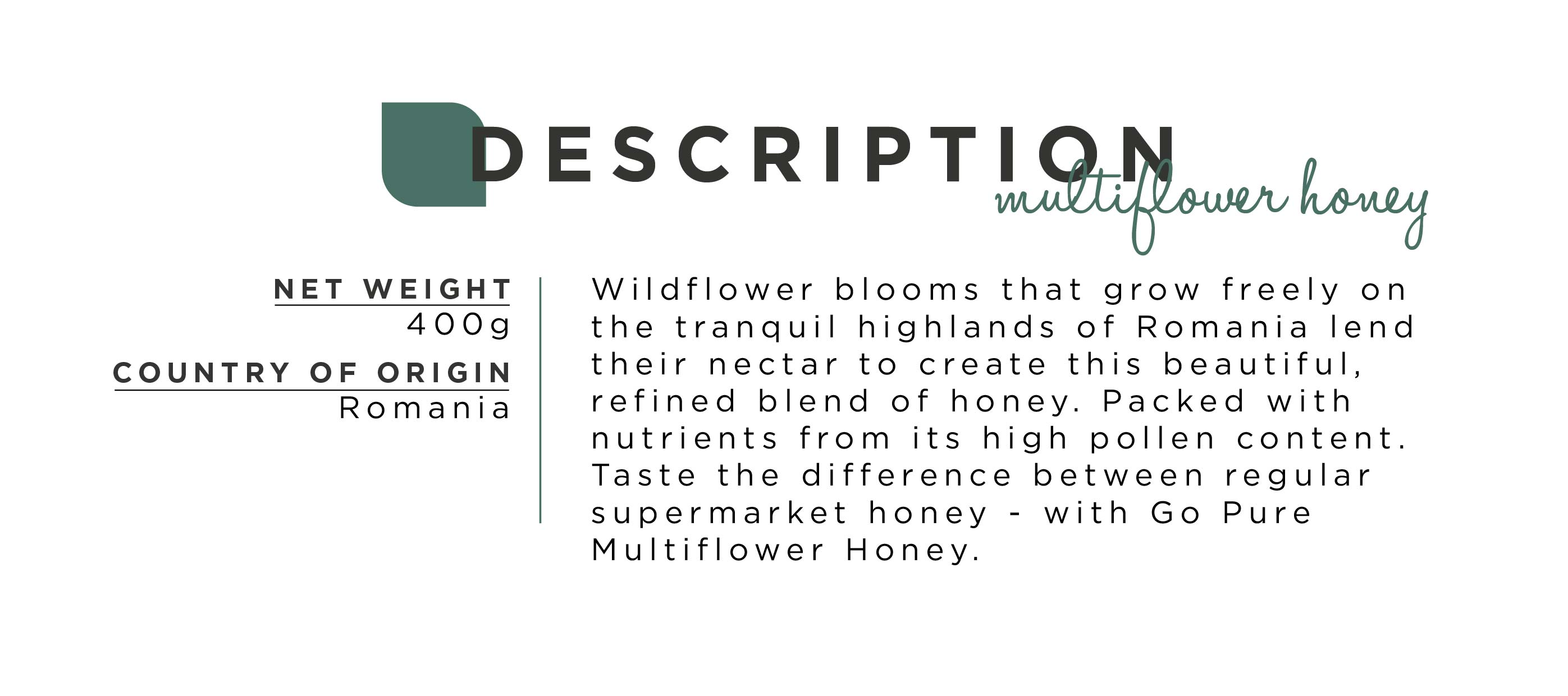 Description Multiflower Honey