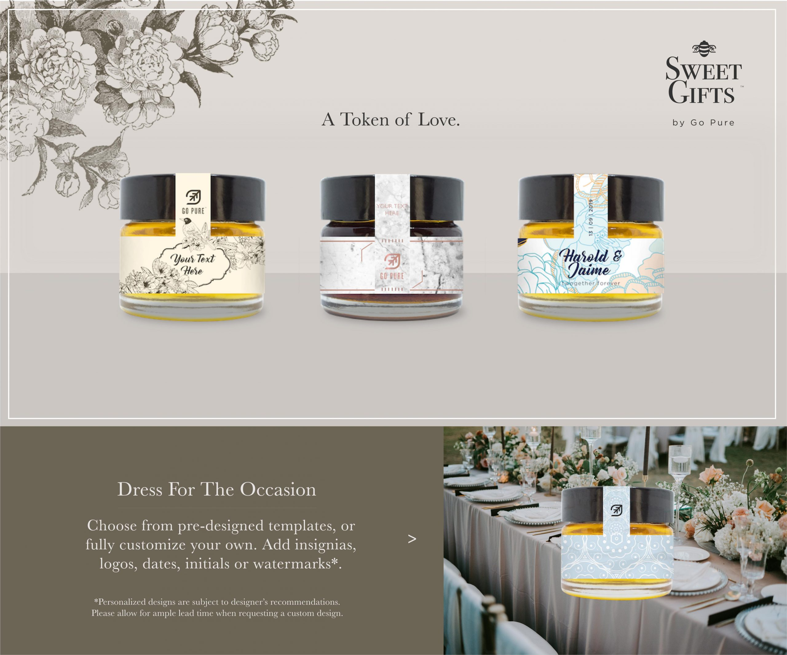 A Token of Love: Sweet Gifts by Go Pure - mini honey favours